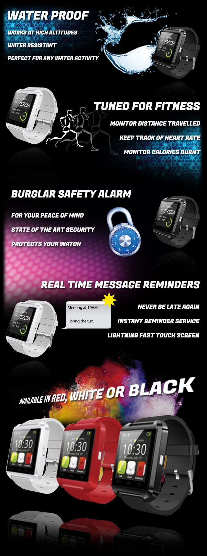 Smart watch promotional